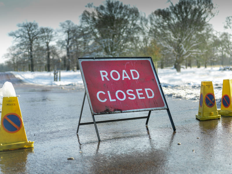 Road Closed Due To Snow