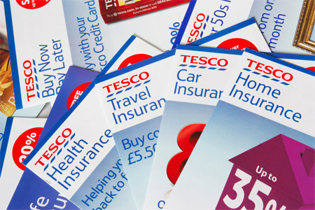 Tesco insurance leaflets